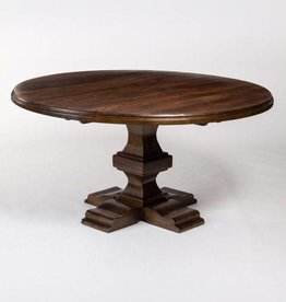 "Summerton 84"" Round Dining Table in Dark Chestnut"