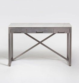 Summit Desk in Cloud Marble and Burnished Riviera