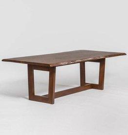 """Aspen 96"""" Live Edge Dining Table in Dark Chestnut"""