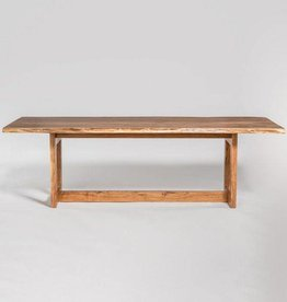 """Aspen 96"""" Live Edge Dining Table in Natural Finish"""