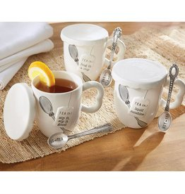 """Liquid Sunshine"" Covered Tea Mug Set"