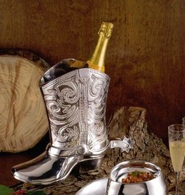 Western Cowboy Boot Wine Bucket