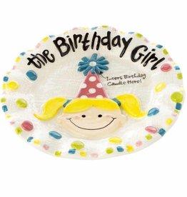 Birthday Girl Dessert Plate