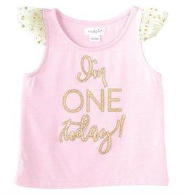 """Im One Today!"" Girl's Birthday Shirt"