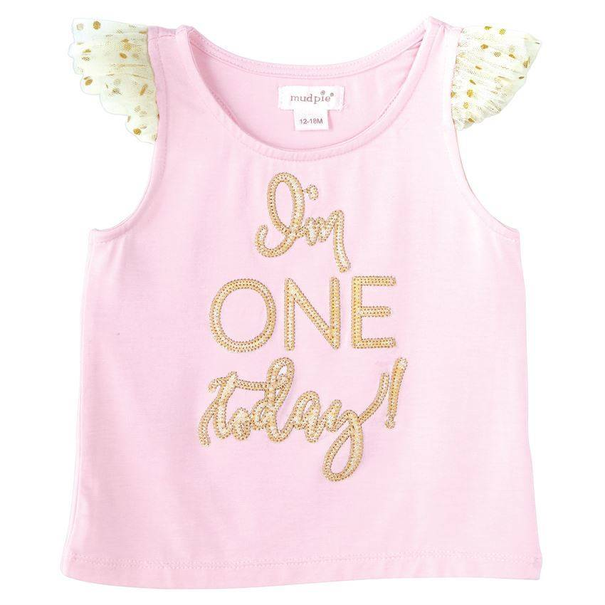 Im One Today Girls Birthday Shirt