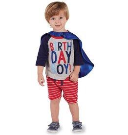 1 Birthday Boy Cape T-Shirt