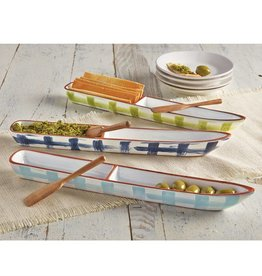 Navy Canoe Olive Hor D'Ourves