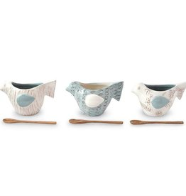 Bird Dip Cup Set, Floral Pattern