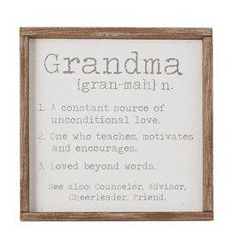 Grandma Defintion Plaque