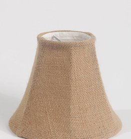 Chandelier Lamp Shade 6-inch, Bell, Clip On, Burlap