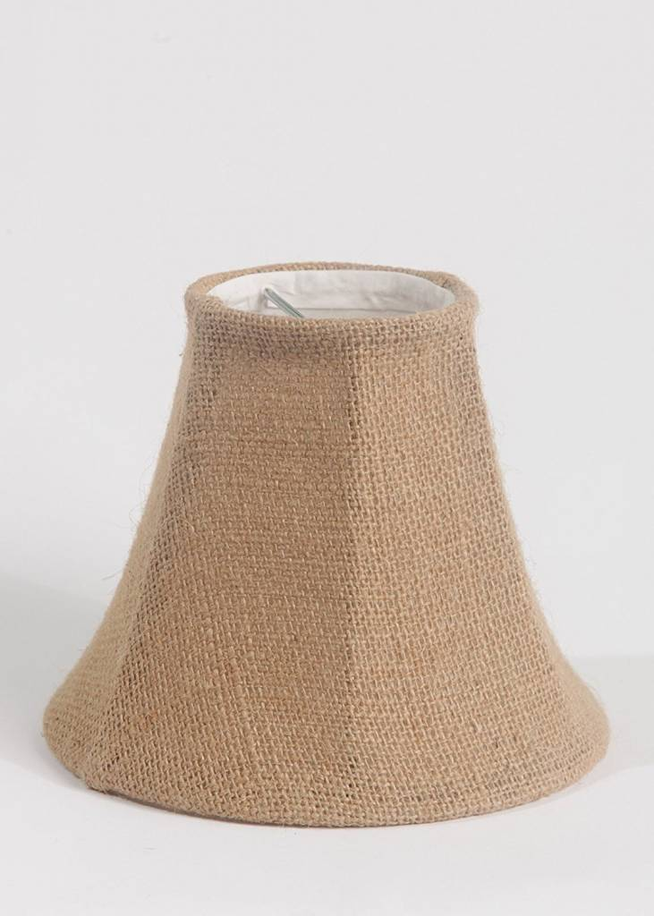 Chandelier Lamp Shade 6 Inch Bell Clip On Burlap