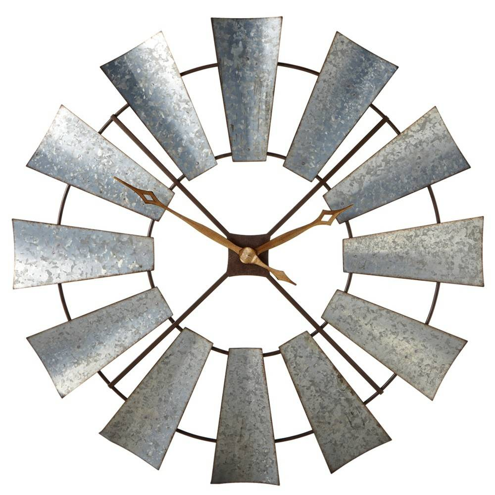 Galvanized Windmill Wall Clock Beckman S