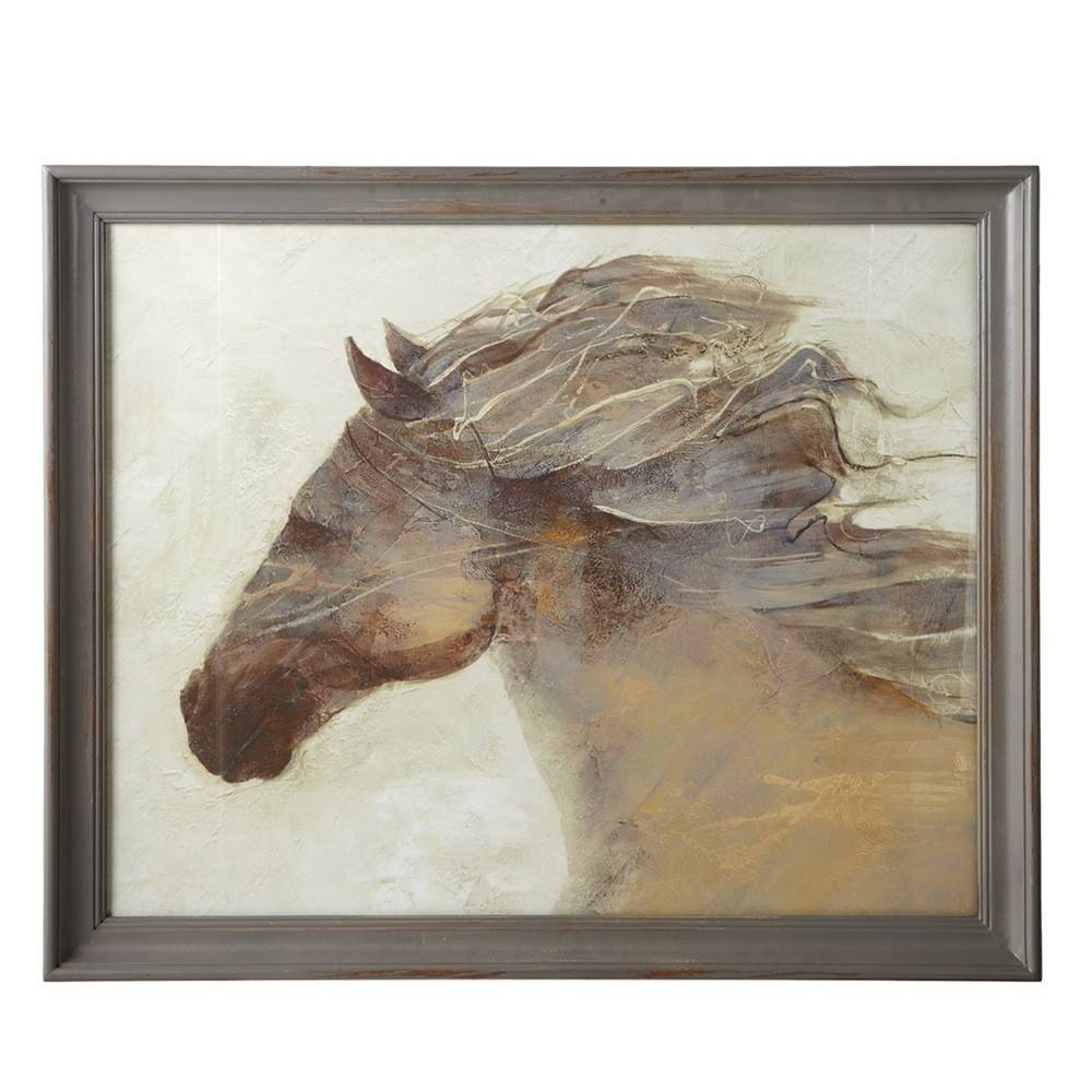 Framed Horse Wall Art with Glass - Beckman\'s