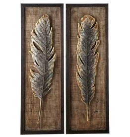 Framed Feather Wall Decor (2 asst)