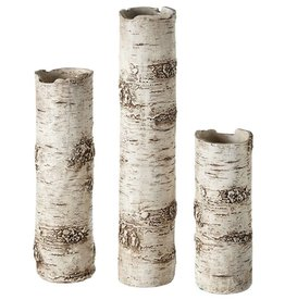 Birch Finish Branch Vase S/3