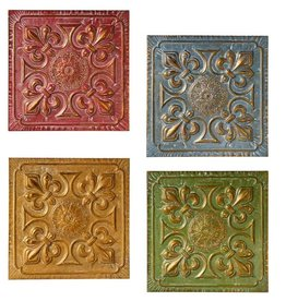 Distressed Fleur de Lis Wall Decor (4 asst)