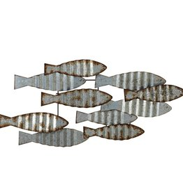 Distressed Galvanized Layered Fish Wall Decor