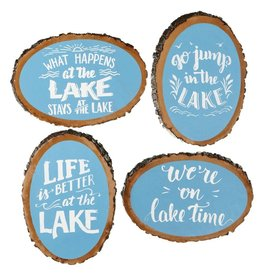 """Lake""TreeSliceWallDecor(4asst)"