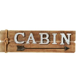 """Cabin"" Wall Decor with Arrow"