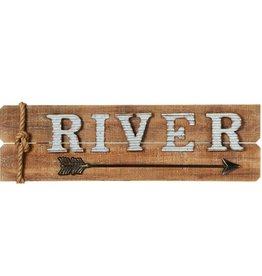 """River"" Wall Decor with Arrow"