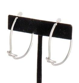 Matte Silver Knotted Hoop Earrings