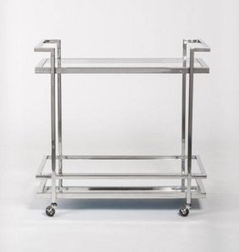 Brentwood Bar Cart in Polished Chrome