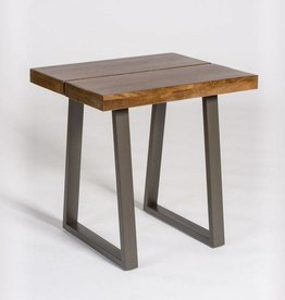 Brooklyn End Table in Chestnut & Burnished Riviera