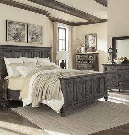Wood King Panel Bed