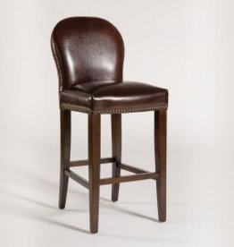 Claremont Bar Stool in Old Tannery and Dark Walnut