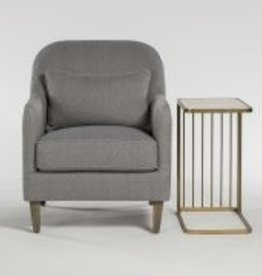 Harvard Occasional Chair in Navy Maze and Distressed Beechwood