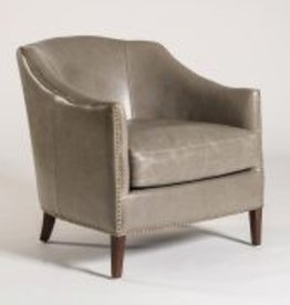 Madison Occasional Chair in London Fog and Dark Walnut