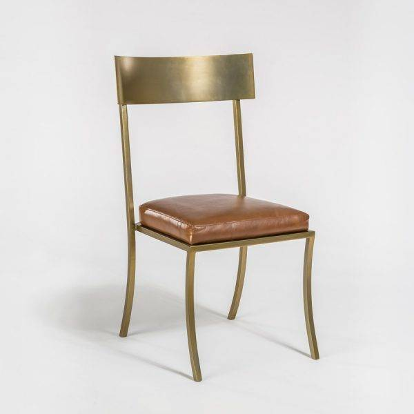 Superbe Marin Dining Chair In Tanned Umber And Antique Brass ...