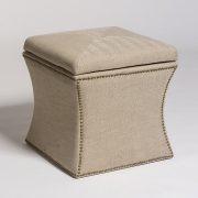 Charmant Manchester Cube Storage Ottoman In Khaki Herringbone ...