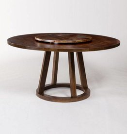 Mendocino Lazy Susan in Dark Chestnut