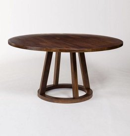 Mendocino Round Dining Table in Dark Chestnut - 60""
