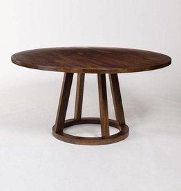 """Mendocino Round Dining Table in Dark Chestnut - 60"""""""