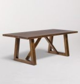 Mendocino Rectangular Dining Table in Dark Chestnut - 96""