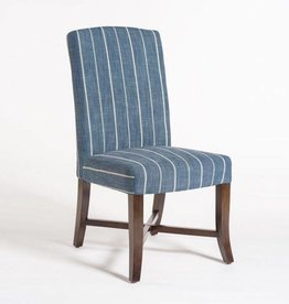 Mercer Dining Chair in Revere Indigo and Dark Walnut