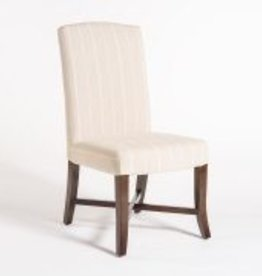 Mercer Dining Chair in Revere Pewter and Dark Walnut