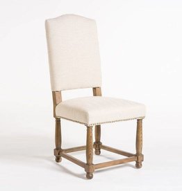 Nantucket Dining Chair in Cement Herringbone & Weathered Oak