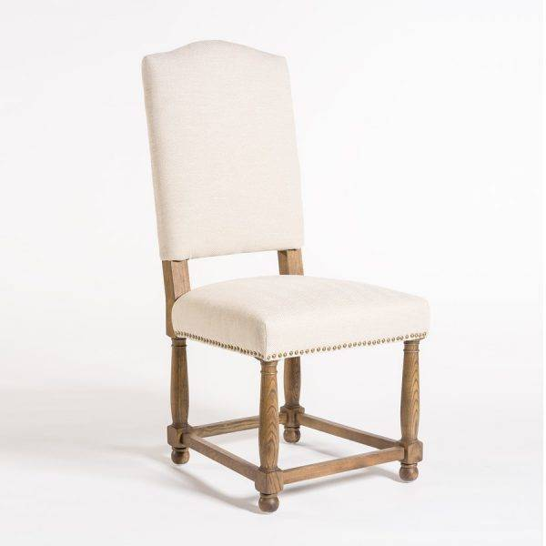 Lovely Nantucket Dining Chair In Cement Herringbone U0026 Weathered ...
