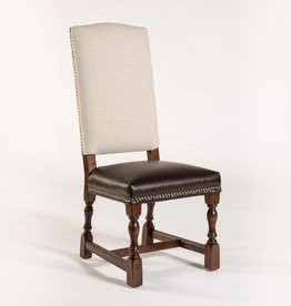 Monterey Dining Chair in Weathered Tannery & London Houndstooth