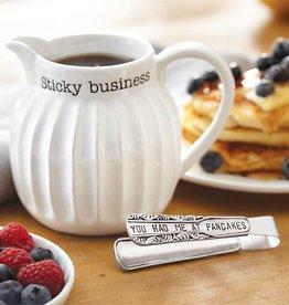 Syrup Pitcher & Pancake Tong Set