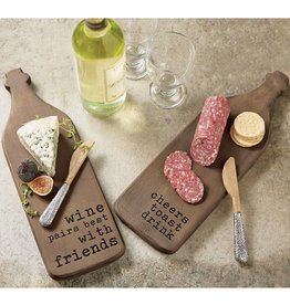 """Friends"" Wine Shaped Board Set"