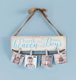 Thank Heaven for Boys Photo Holder