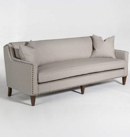 Pacifica Sofa in Muted Canvas & Chestnut
