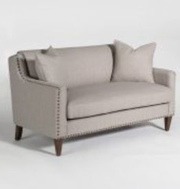 Pacifica Loveseat in Muted Canvas & Chestnut