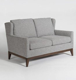 Portsmouth Loveseat in Subtle Graphite & Chestnut