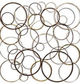 Ring Toss Metal Wall Sculpture