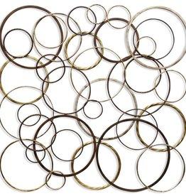 Ring Toss Metal Wall Sculpture